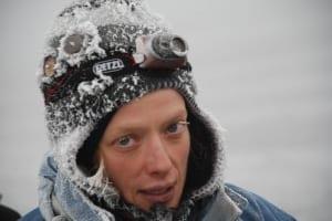 Snowy face