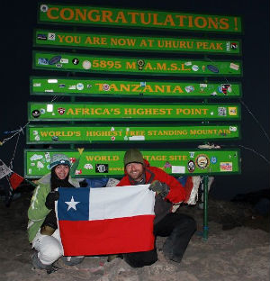 Texas flag at Uhuru Peak