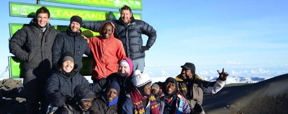 Best summit banner for Kilimanjaro