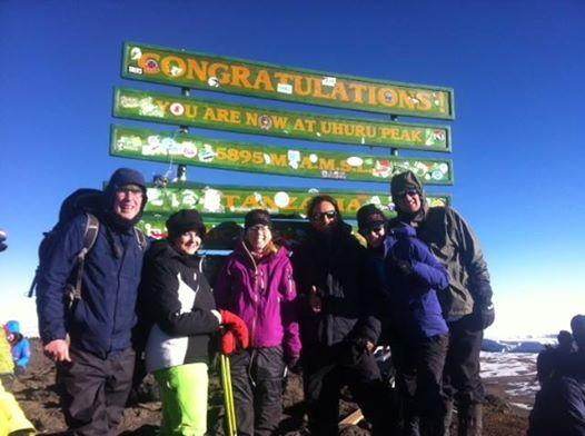 Jennifer Truitt's crowd at Kilimanjaro's summit