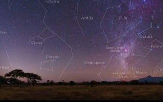 Star chart for Kilimanjaro