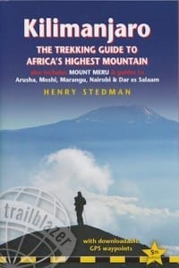 The front cover of the fifth edition of the Kilimanjaro guide book