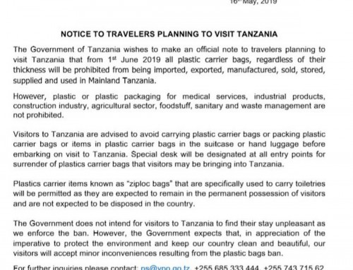The plastic bag ban in Tanzania – an update
